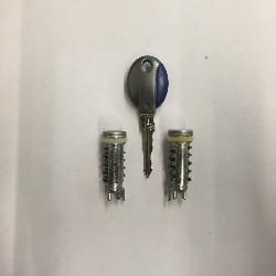 1 Neuer Schlüssel mit zwei Tür Schlösser